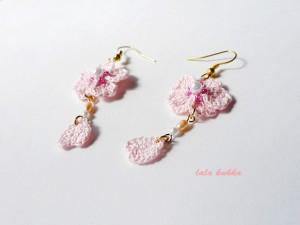 桜、ひらりピアス2