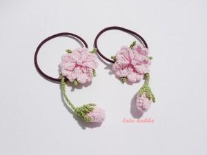 桜のヘアゴムD-1