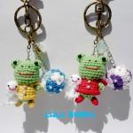 カエルちゃん&紫陽花ボールのあみぐるみキーホルダー