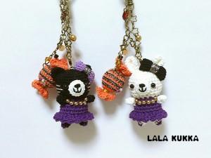 ハロウィン黒猫&白うさちゃん