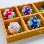 かぎ針編みで作った紫陽花ブローチ【4カラー】